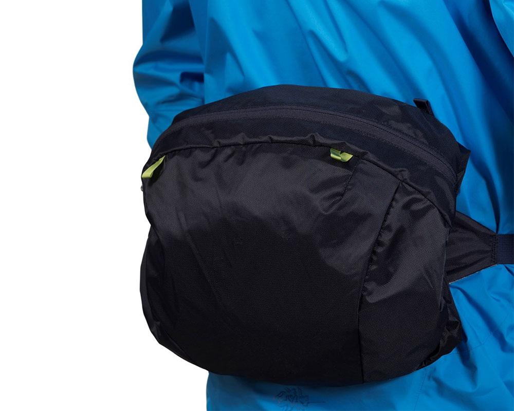 Туристическа раница Bergans Trollhetta капакът се превръща в чанта за кръст