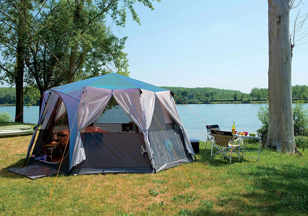 На къмпинг с палатка-шатра Coleman Cortes Octagon 8 Blue 2021
