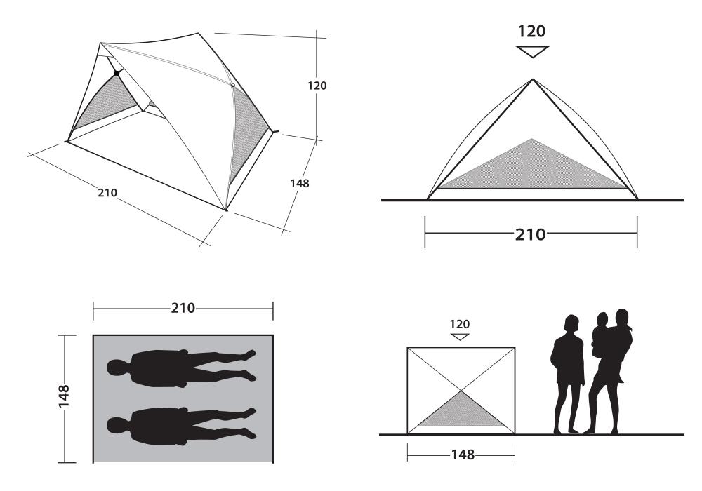 Размери на тента за плаж Outwell Formby Beach Shelter 2021