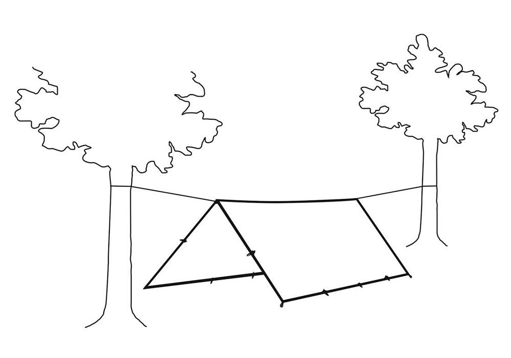 Между дървета тента - навес Robens Tarp 4 x 4 2021