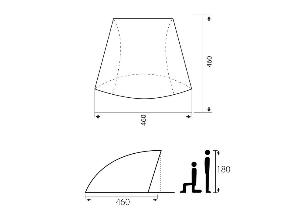 Размери на тента - навес Trimm Mate Sand 2020