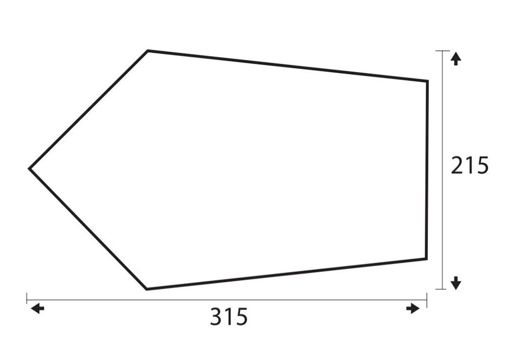 Размер на тента - навес Trimm Trace One Sand 2020