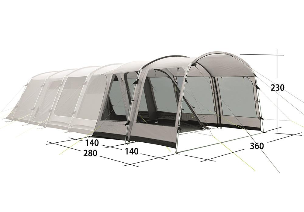Размери на универсална допълнителна секция за палатка Outwell Universal Extension Size 4
