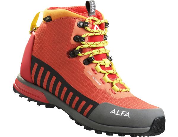 Дамски туристически обувки ALFA Kvist Advance GTX WMN Red