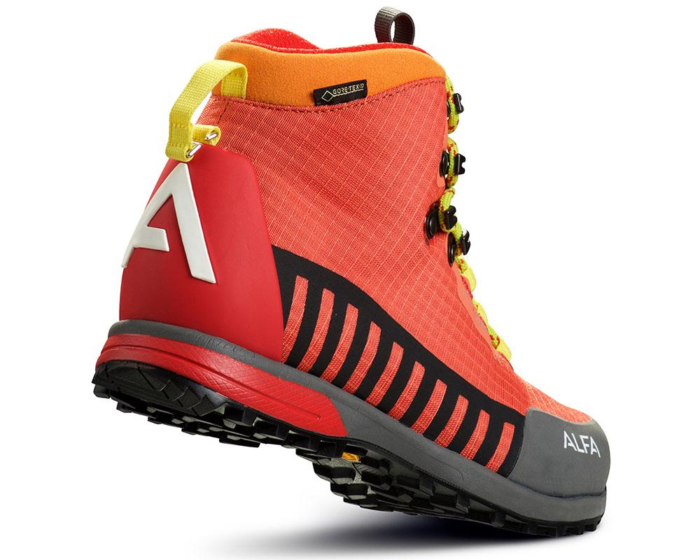 Пета на дамски туристически обувки ALFA Kvist Advance GTX WMN Red