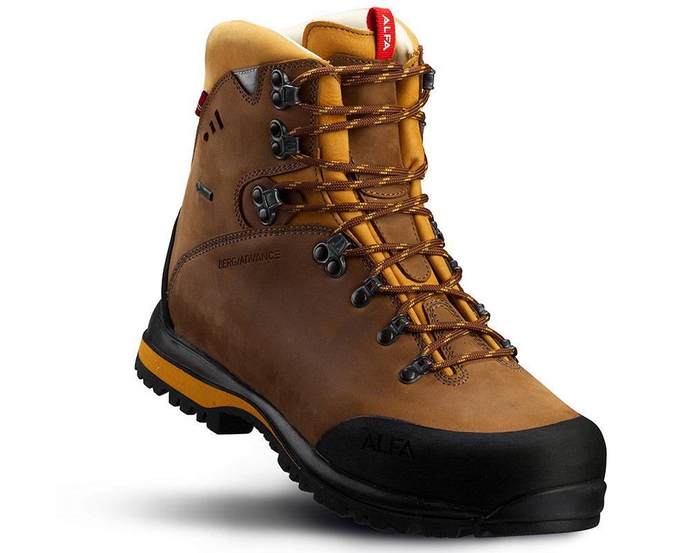 Мъжки кожени туристически обувки Gore Tex ALFA Berg Advance GTX Mustard Yellow