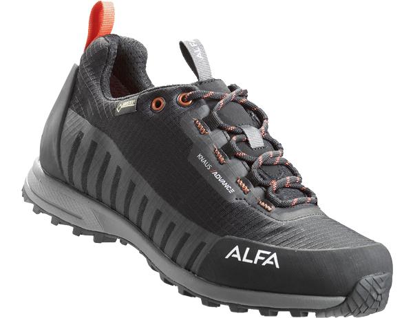 Мъжки туристически обувки ALFA Knaus Advance GTX Black Orange