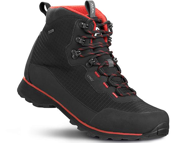 Мъжки туристически обувки ALFA Lyng Perform GTX Black Red