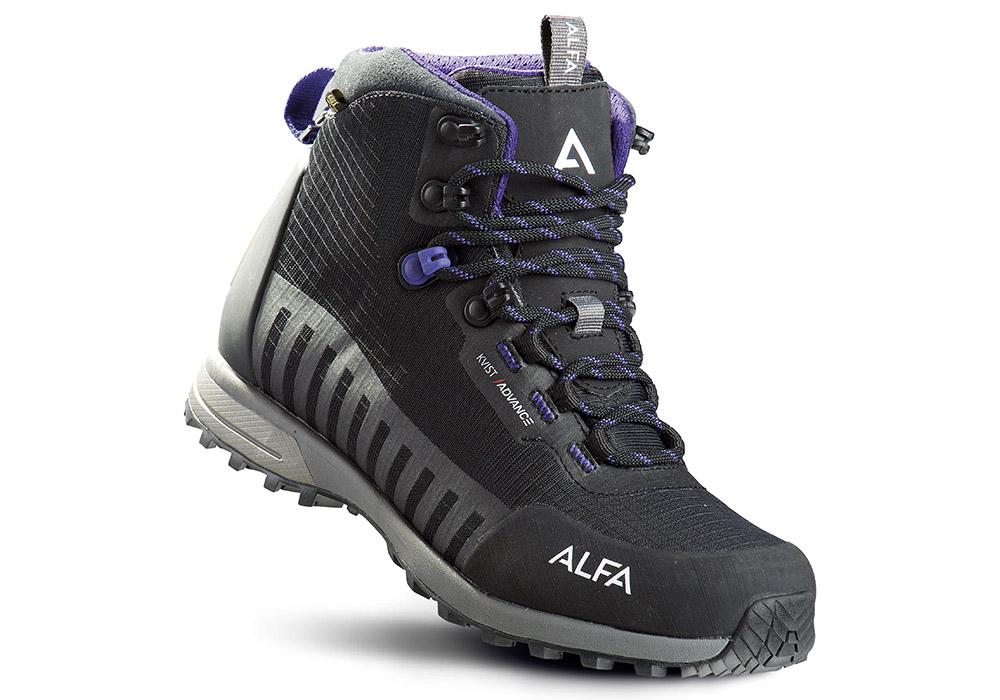Дамски туристически обувки ALFA Kvist Advance GTX W Black Purple