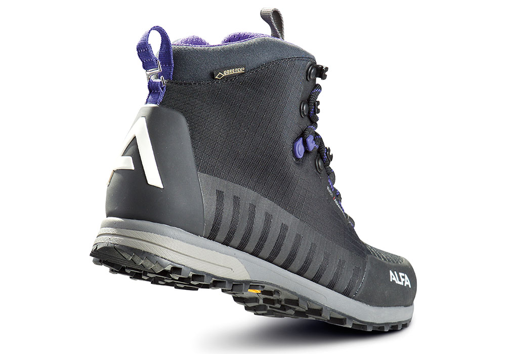 Пета на дамски туристически обувки ALFA Kvist Advance GTX W Black Purple