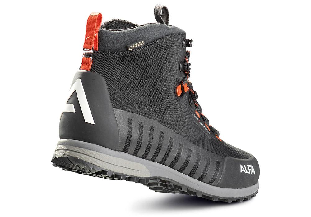 Пета на мъжки туристически обувки ALFA Kvist Advance GTX Black Orange