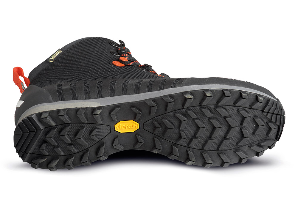 Vibram на мъжки туристически обувки ALFA Kvist Advance GTX Black Orange