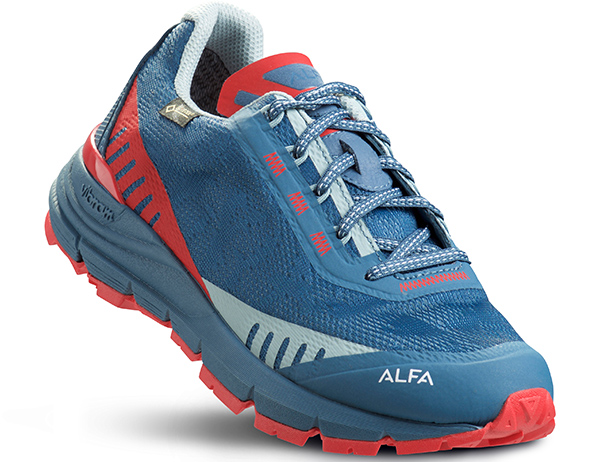 Дамски туристически обувки ALFA Ramble Advance GTX W Blue Red