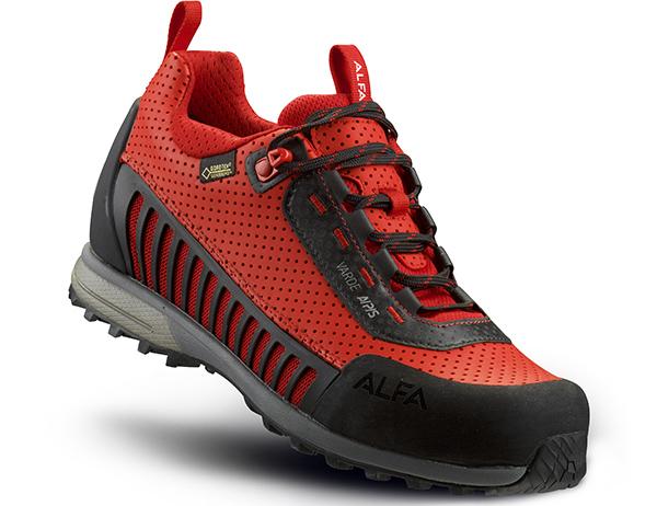 Дамски туристически обувки ALFA Varde APS GTX W Red