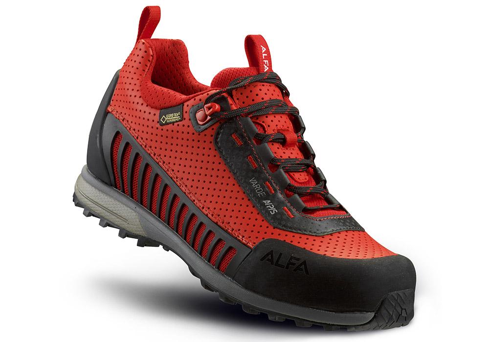 Червени туристически обувки ALFA с мембрана GORE-TEX Surround