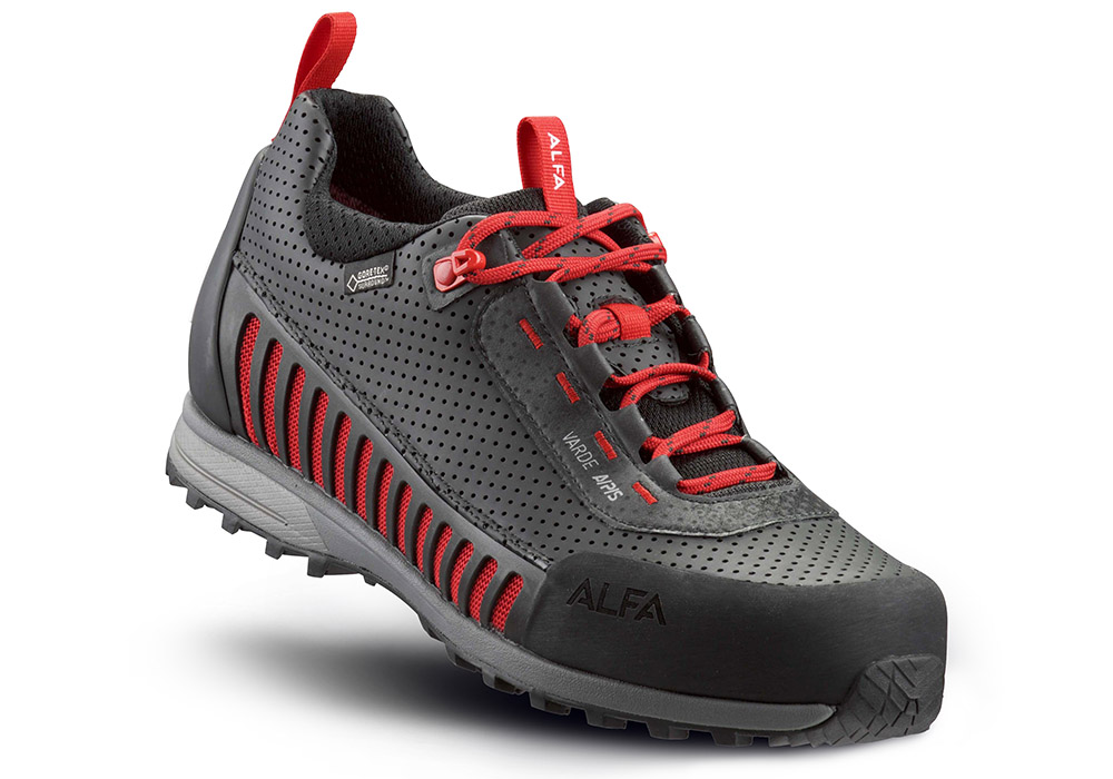 Мъжки туристически обувки ALFA Varde APS GTX Black Red
