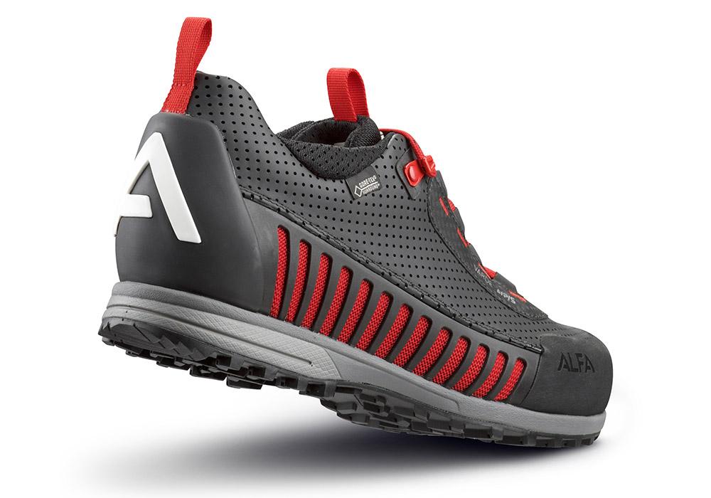 Пета на мъжки туристически обувки ALFA Varde APS GTX Black Red