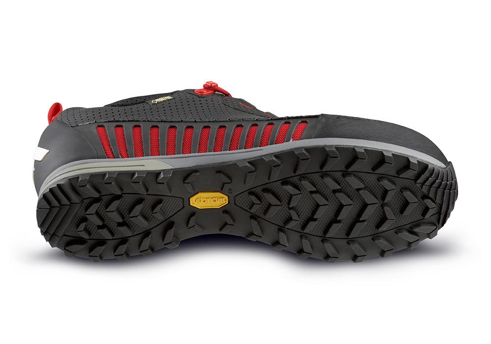 Подметка Vibram на мъжки туристически обувки ALFA Varde APS GTX Black Red