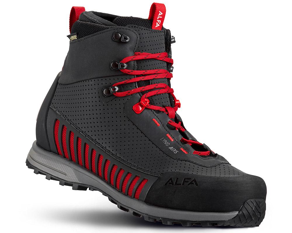 Мъжки туристически обувки с мембрана Gore Tex ALFA Lyng APS GTX Black Red
