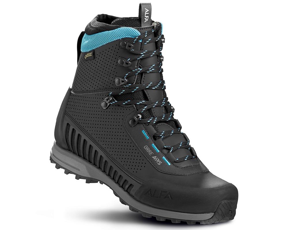 Високи дамски туристически обувки Gore Tex ALFA Orre APS GTX WMN Black Torquase