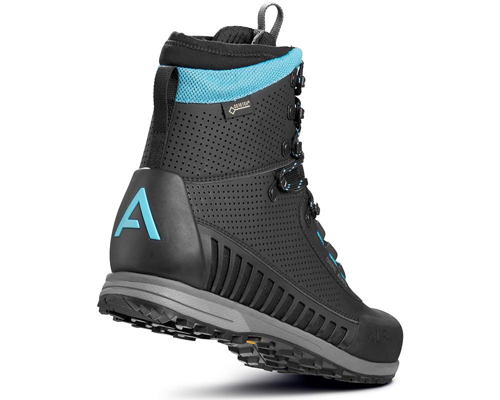 Пета на дамски високи туристически обувки Gore Tex ALFA Orre APS GTX WMN Black Torquase