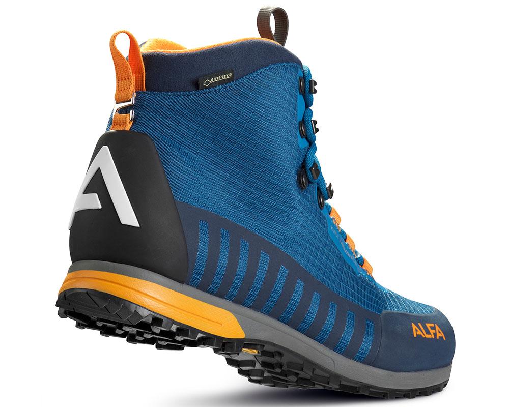 Пета на мъжки туристически обувки с мембрана Gore-Tex ALFA Kvist Advance GTX Seaport Orange