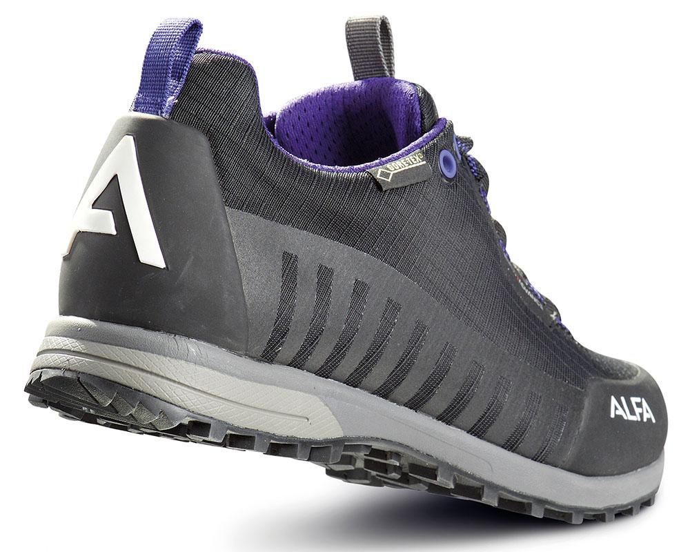 Пета на дамски туристически обувки ALFA Knaus Advance GTX Black Purple