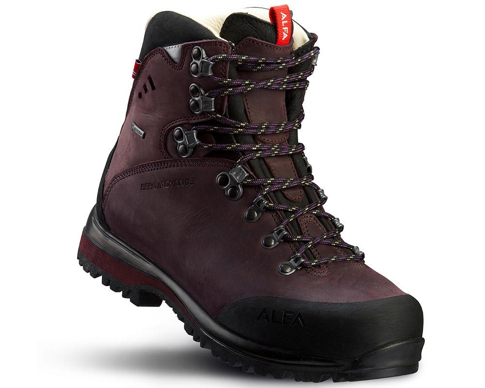 Дамски туристически обувки ALFA Berg Advance GTX WMN Aubergine