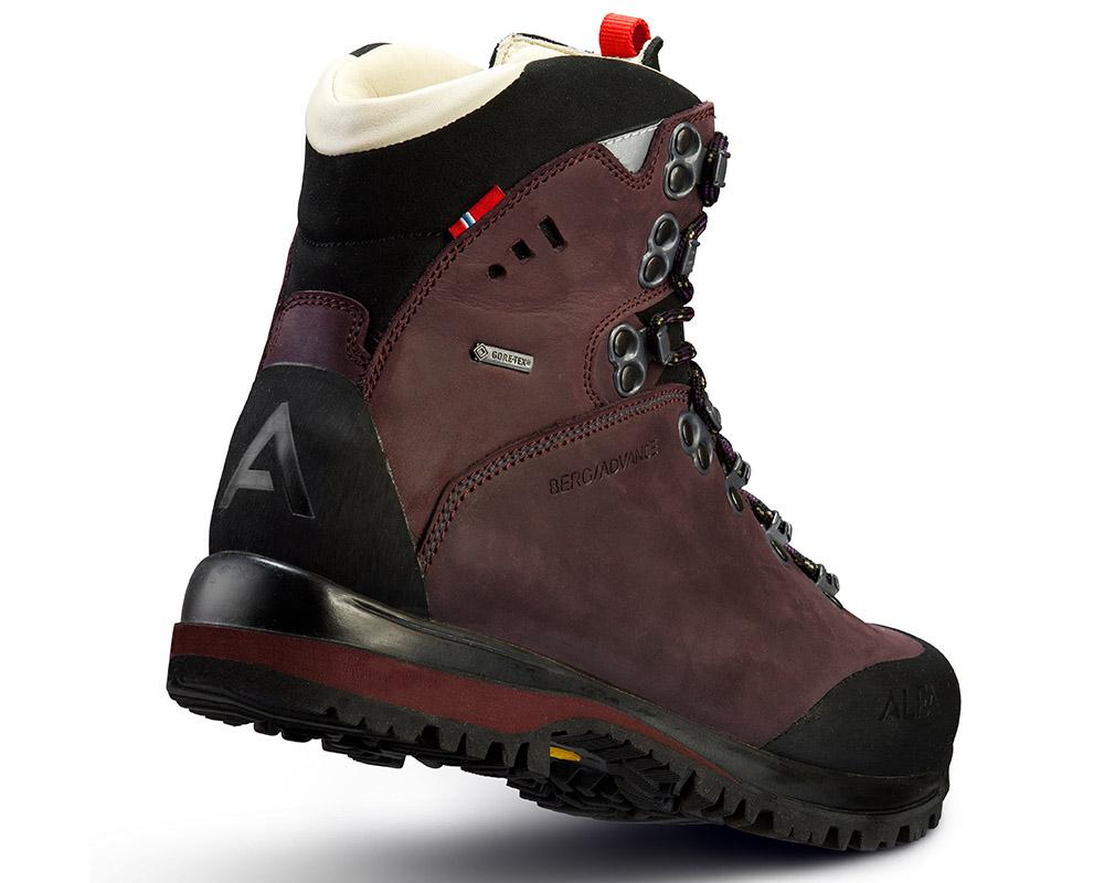 Пета на дамски туристически обувки ALFA Berg Advance GTX WMN Aubergine
