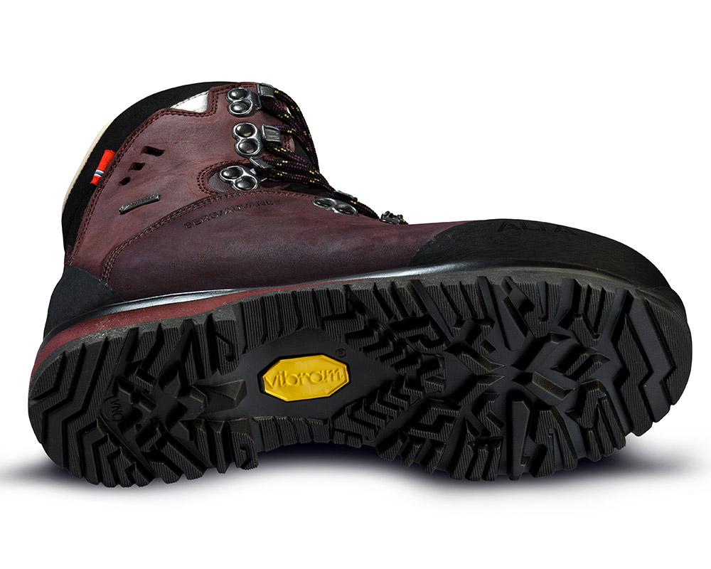Подметка Vibram на дамски туристически обувки ALFA Berg Advance GTX WMN Aubergine