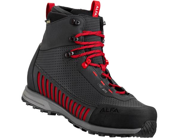 Дамски туристически обувки ALFA Lyng APS GTX WMN Black Red