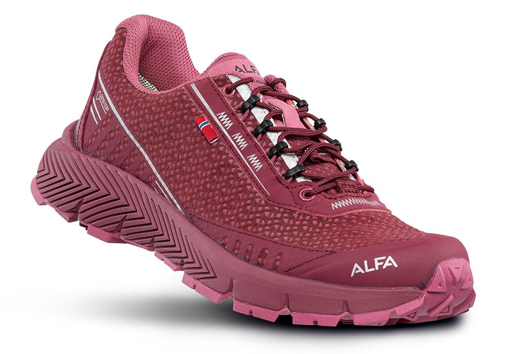 Дамски туристически обувки ALFA Drift Advance GTX W Burgundy 2020