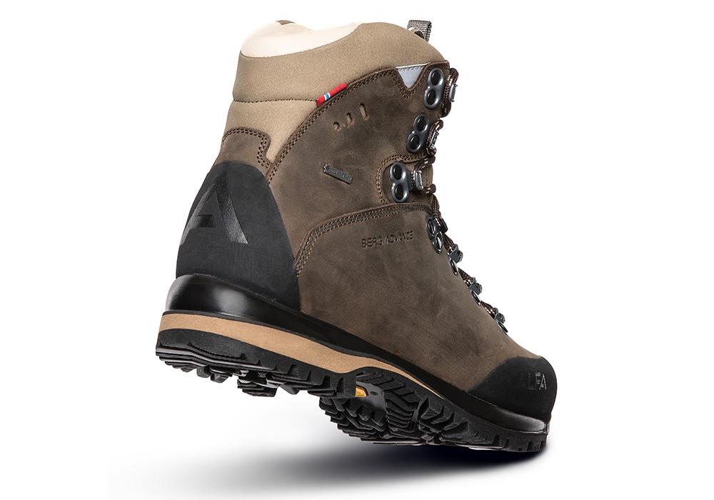 Пета на дамски туристически обувки ALFA Berg Advance GTX W Classic Brown 2021