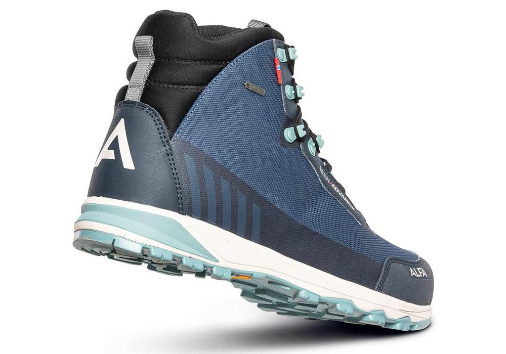 Back ALFA Gren Advance GTX M Hiking Boots Blue 2021