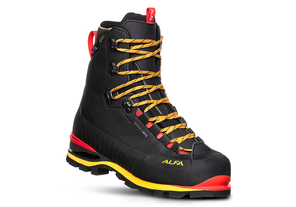 Лице на мъжки туристически обувки ALFA Juvass APS GTX M Black 2021