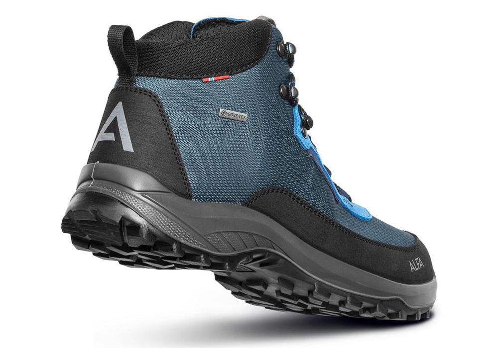 Гръб на мъжки туристически обувки Alfa Kjerr Perform GTX M Blue 2021