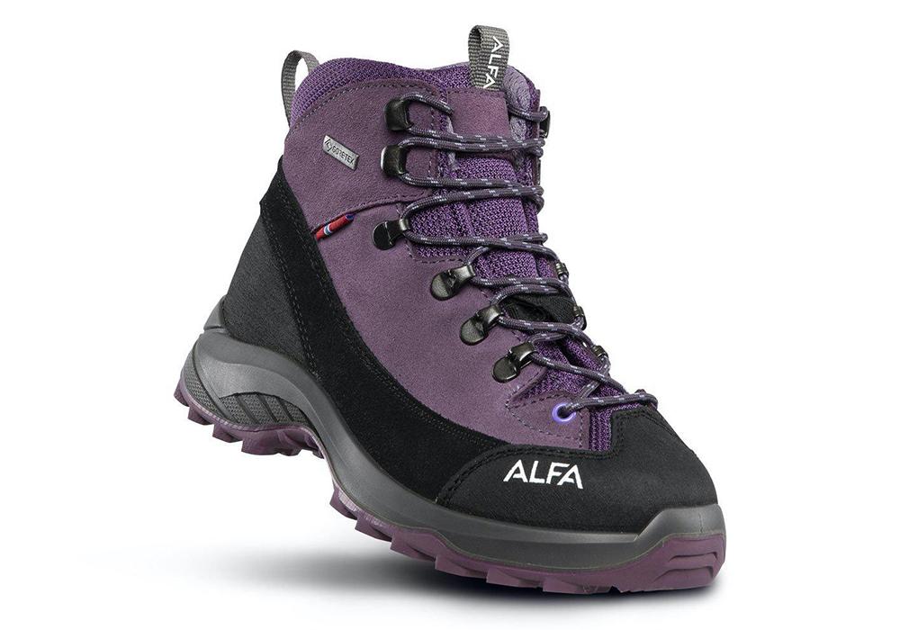 Детски туристически обувки ALFA Kratt Perform GTX Jr Purple 2021