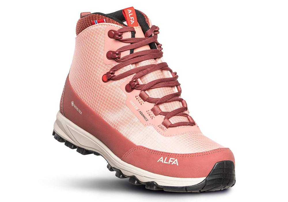 Дамски туристически обувки ALFA Kvist Advance 2.0 GTX W Terracotta 2021
