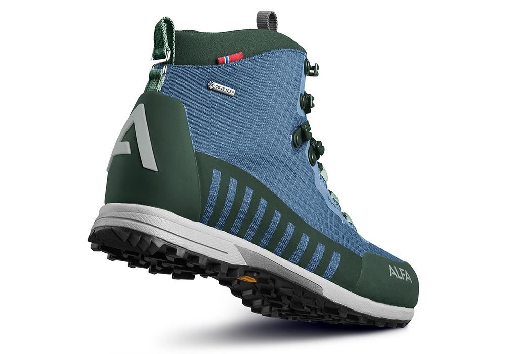 Пета на мъжки туристически обувки ALFA Kvist Advance GTX Blue Green 2020