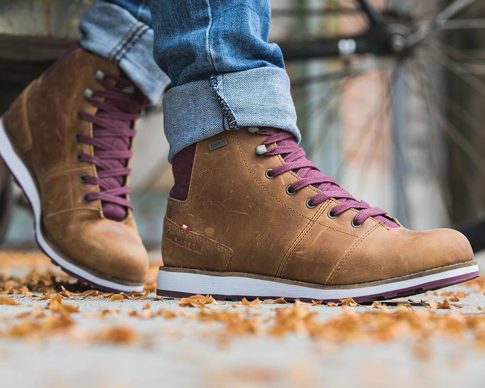 Дамски есенни кожени обувки с дишаща и водоустойчива мембрана Dachstein Julie DDS WMN Brandy