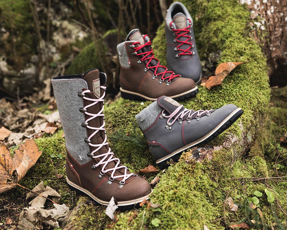 Колекция кожени обувки на Dachstein сред природата