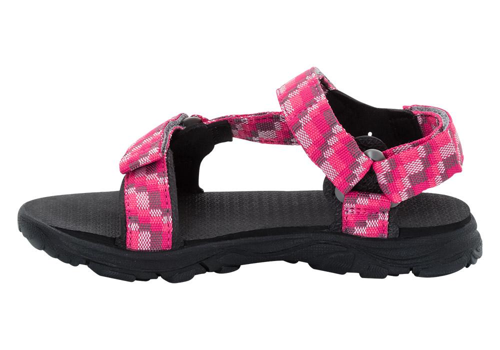 Вътрешен профил на детски туристически сандали Jack Wolfskin Seven Seas 2 Girl Tropic Pink 2019
