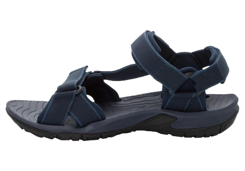 Профил на мъжки туристически сандали Jack Wolfskin Lakewood Ride Night Blue 2019