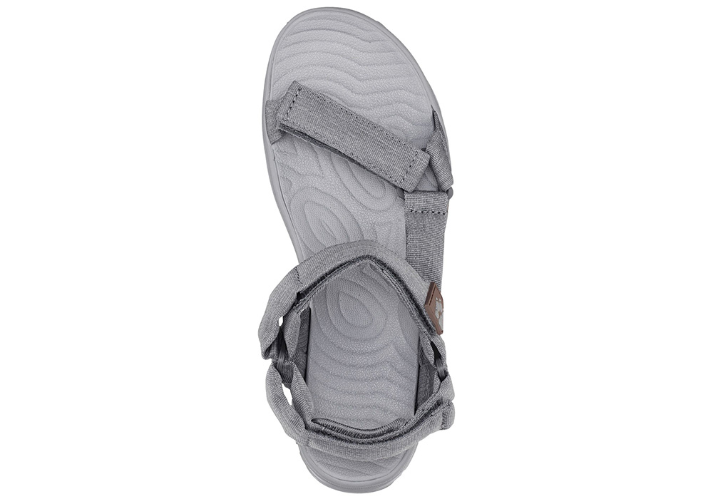 Поглед отгоре на дамски туристически сандали Jack Wolfskin Seven Seas 2 Tarmac Grey 2019