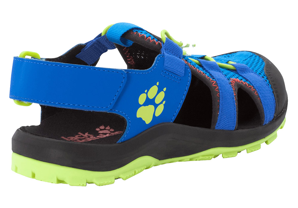 Пета на детски сандали Jack Wolfskin Outdoor Action Kids Blue / Lime 2020
