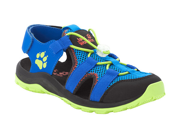 Jack Wolfskin Outdoor Action Sandals Kids Blue / Lime 2020