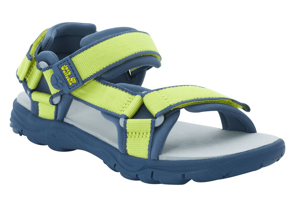 Детски сандали Jack Wolfskin Seven Seas 3 Kids Lime / Blue 2020