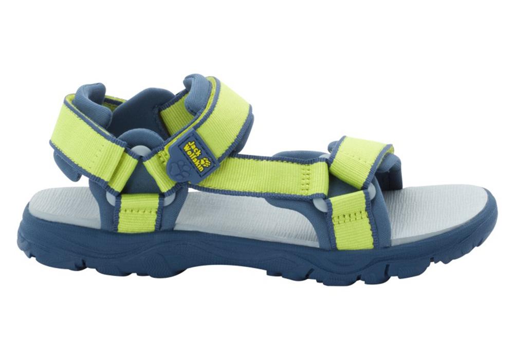 Профил на детски сандали Jack Wolfskin Seven Seas 3 Kids Lime / Blue 2020