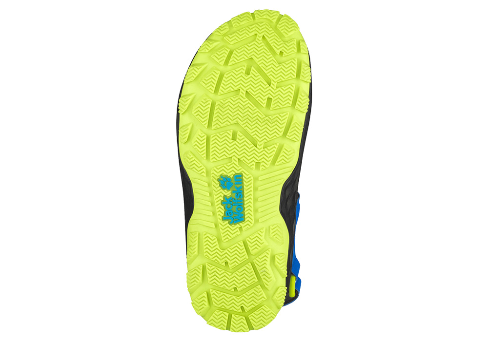 Подметка на детски сандали Jack Wolfskin Outdoor Action Kids Blue / Lime 2020