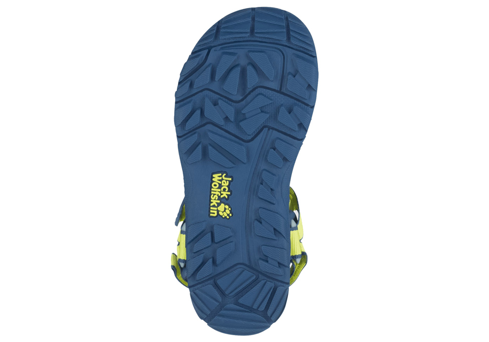 Подметка на детски сандали Jack Wolfskin Seven Seas 3 Kids Lime / Blue 2020